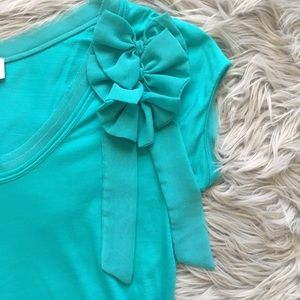 Mango Tops - SHORT SLEEVE BLOUSE WITH SHOULDER BOW DETAIL